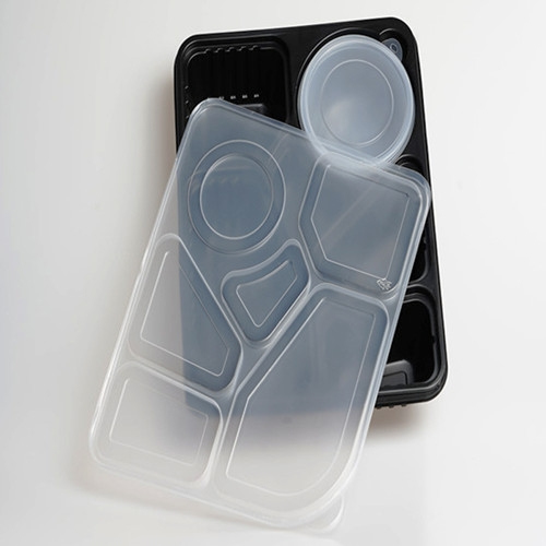 take away plastic black PP food container