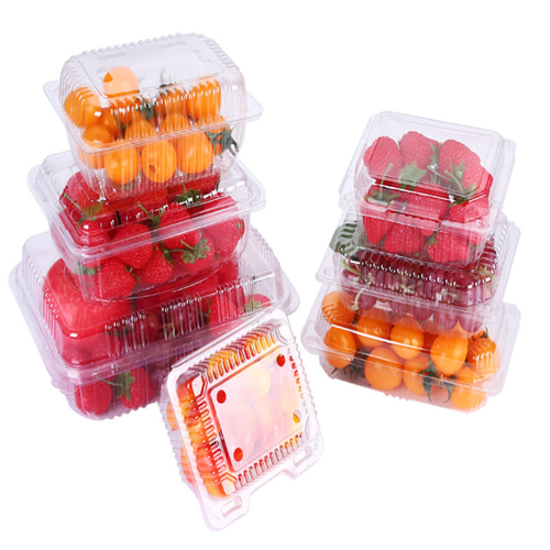 Clamshell Plastic Fruit Packaging Box For Strawberry