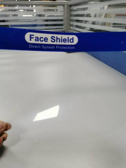 0.2mm 0.25 mm anti-fog Clear PET Sheet For face shield