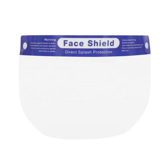 clear plastic anti fog PET material for face shield