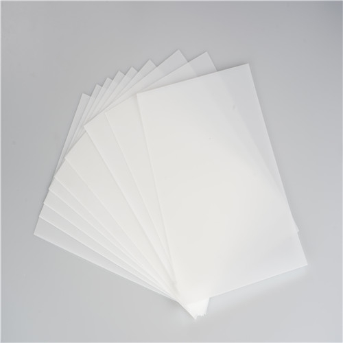 white PP Polypropylene plastic Sheet for printing