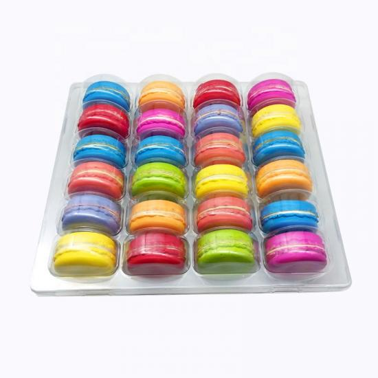12 macaron plastic clamshell packaging
