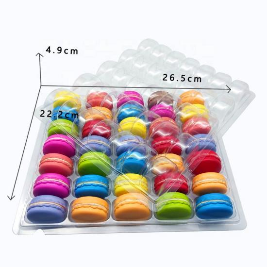 35 macaron plastic blister tray with lid