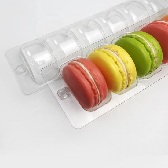 6 macaron blister packaging box